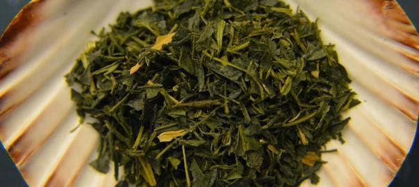 Verkostung einer Teeprobe: Tencha