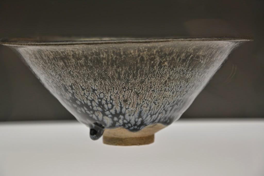 Jian-Teeschale mit Glasurtropfen